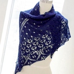 Seven ways to wear a triangle knit shawl