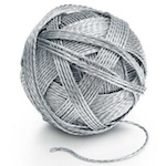 Sterling Silver Ball Of Yarn