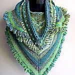 'All the Greens' shawl