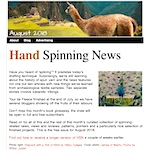 Hand Spinning News August 2018
