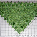 Using Blocking Wires To Block A Lace Shawl