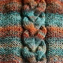 Poufy cable in handspun