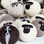 Felted dryer balls get worldwide attention