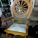 Wheel-backed chair