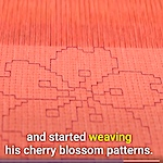 Weaving cherry blossoms of hope
