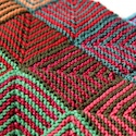 Colourful blanket with tutorial