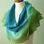 BFL Crescent Shawl