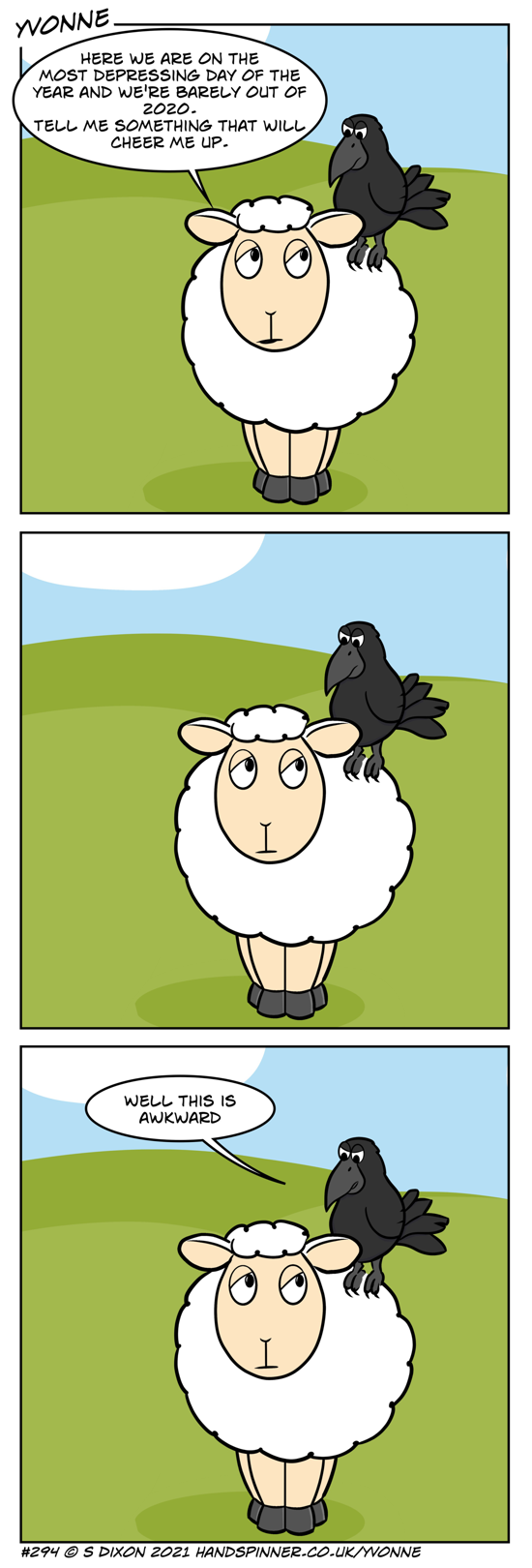 Yvonne the sheep with crow.