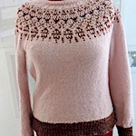 Handspun and commercial Humulus sweater