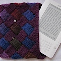 Entrelac Cozy Kindle Cover by Eileen Casey