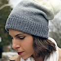 Perfect slouchy grey-dient hat