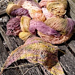 Knitting hand dyed singles