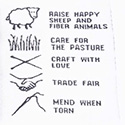 Handmade garment care label