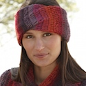 Bramble Jam crochet head band and neck warmer by DROPS Design