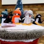 Yarn bombers give 25 Hertford post boxes festive makeovers