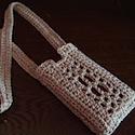Crochet windowed iPod lanyard by Katie Rivard