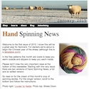 Hand Spinning News January 2015