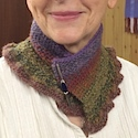 Hand spun hand knitted cowl