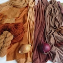 Dyes from Red Onion Skins on Wool, Cotton and Silk