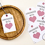 Handmade with love gift tags