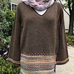 Journey of a handspun sweater