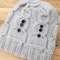Snowman Hat Knit Pattern by Julie Measures