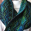 Stained Glass Cowl by Wendy D. Johnson