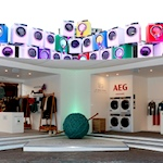 Wool Week takes over London's Covent Garden with colored washing machines
