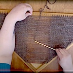 Weaving On A Triangle Loom