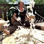 Willowing wool
